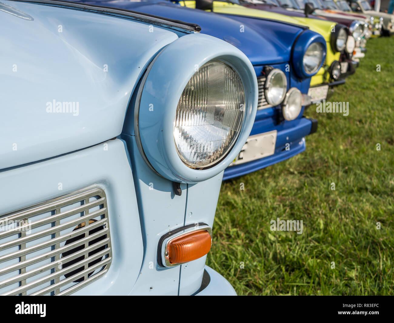 GDR Trabant east germany Stock Photo