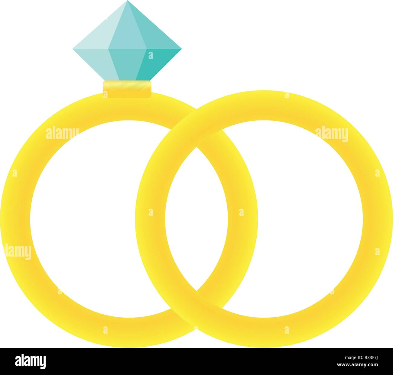 Wedding Rings Icon Cartoon Illustration Of Wedding Rings Vector