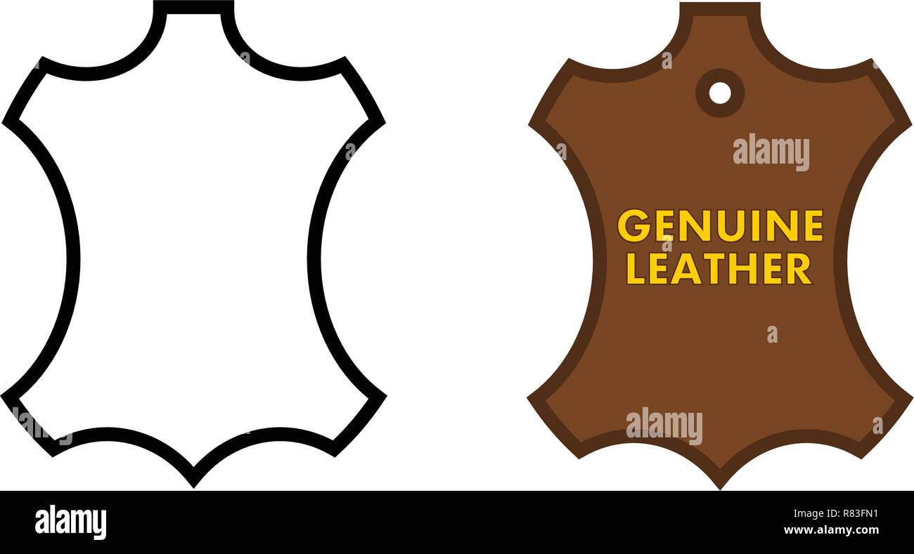 natural leather logo high resolution stock photography and images alamy https www alamy com genuine leather sign animal skin outline black white and brown version with text image228730237 html