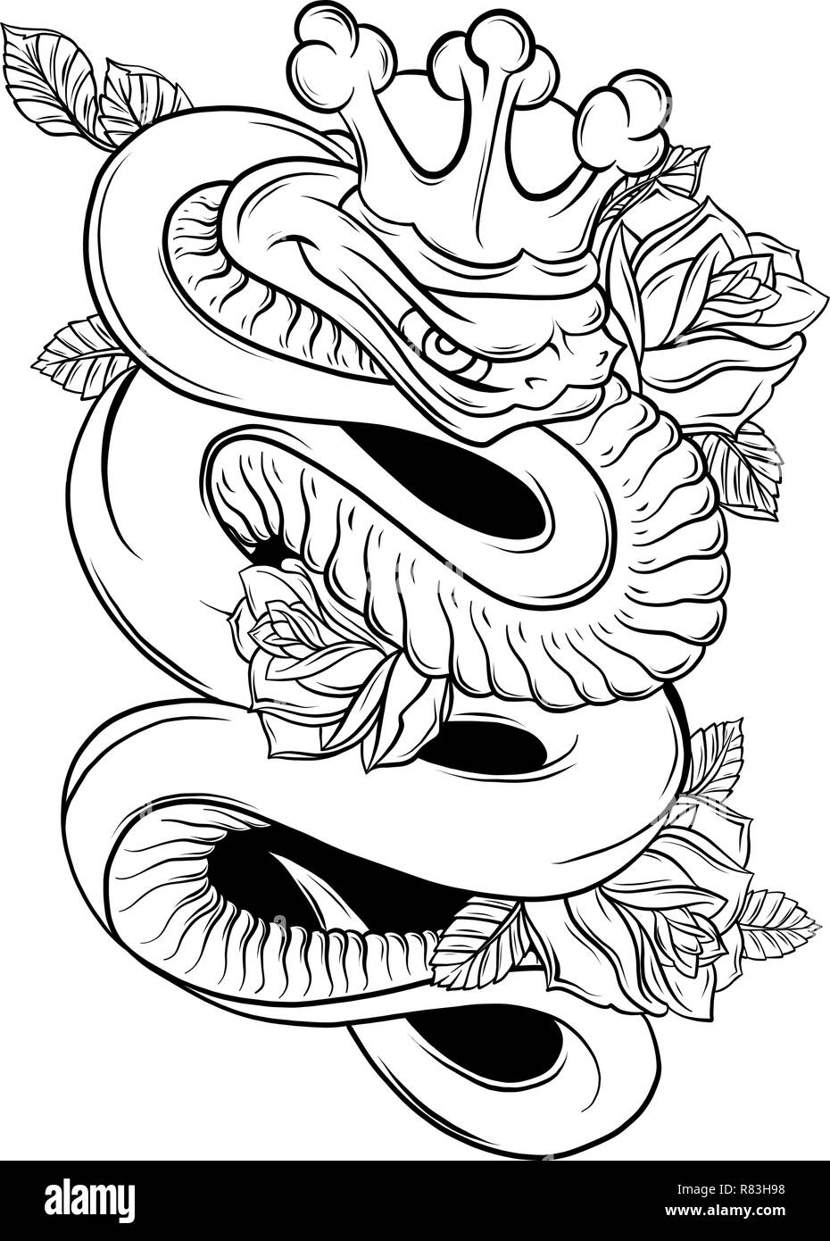 Tattoo Art High Resolution Stock Photography And Images Alamy Official tattoo brand tattoo books are one of the greatest contributions to the tattoo industry in the 20th century. https www alamy com vector illustration snake and rose traditional tattoo art image228731476 html