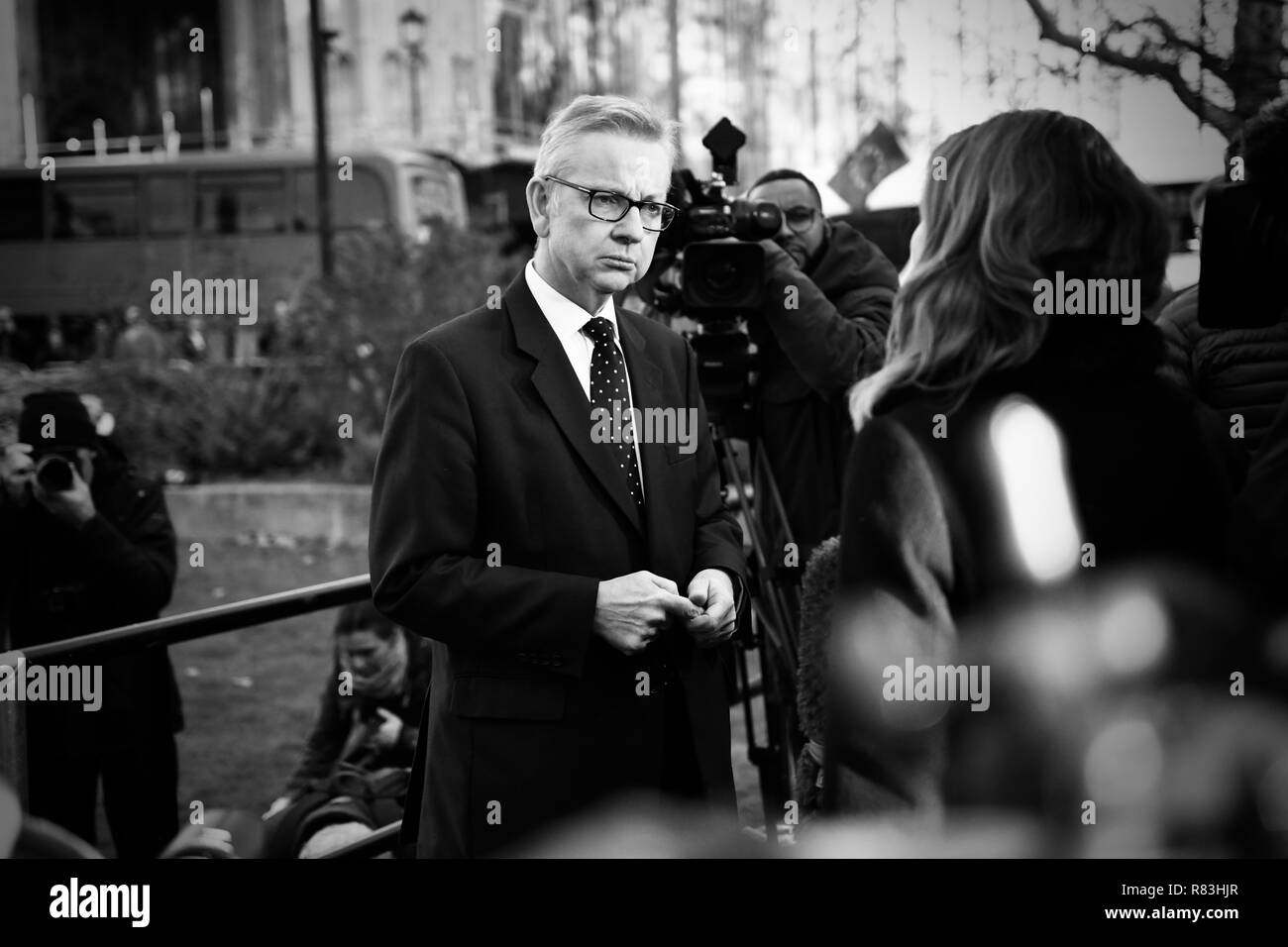 Michael Gove on College Green Westminster - Stock Image