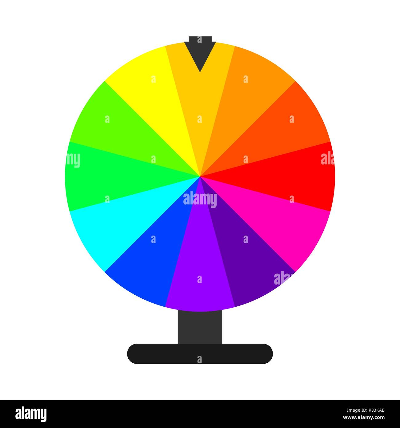 Wheel of Fortune in flat design. Vector Illustration. Lottery icon isolated - Stock Vector