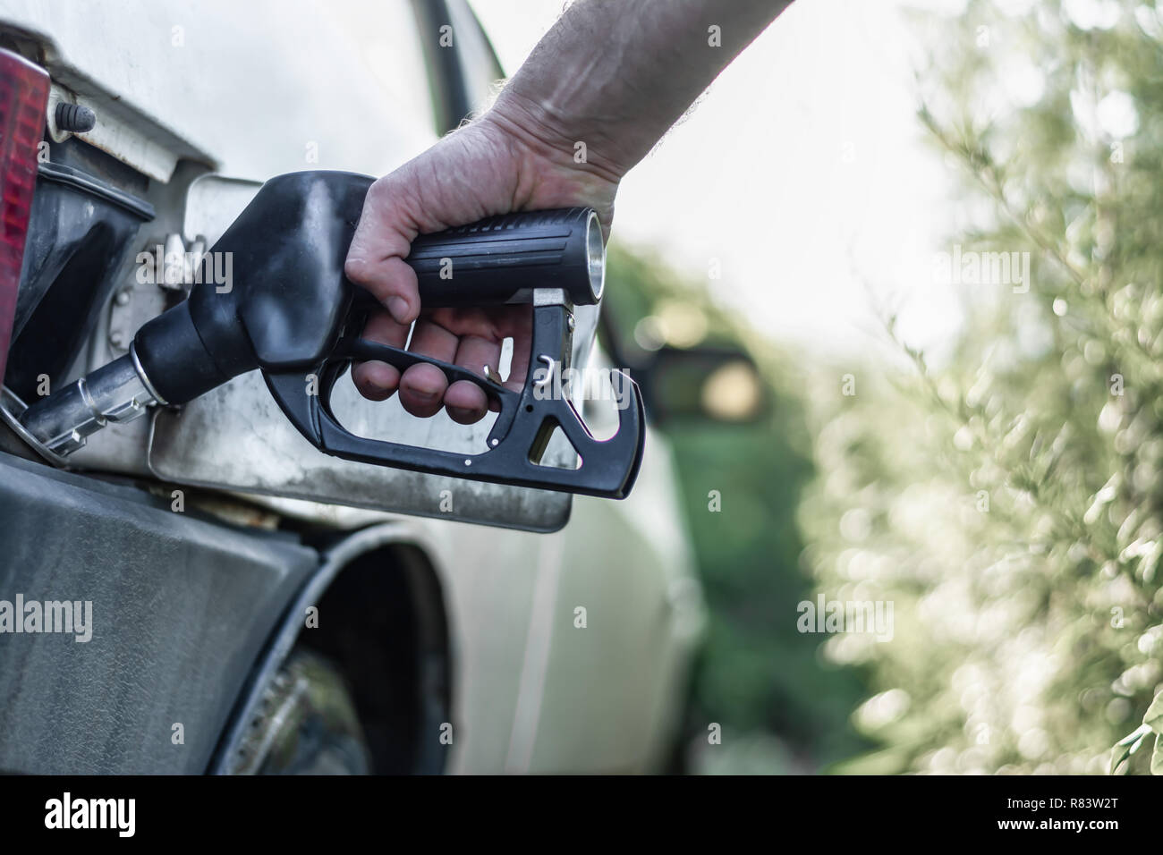 The fuel crisis in the global economy - Stock Image
