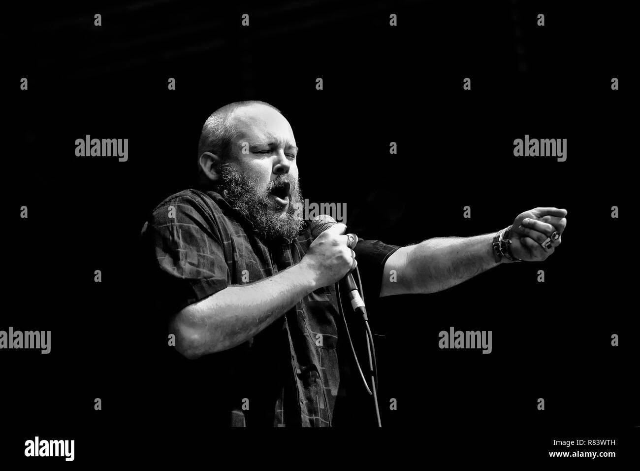 Richard Dawson live at the End of The Road festival. - Stock Image