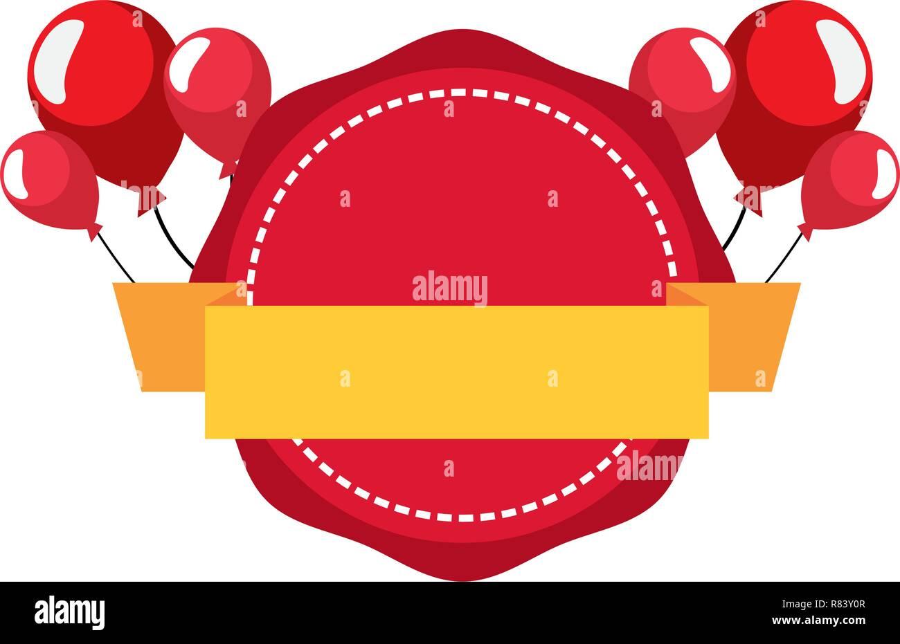 label balloons blank template design vector illustration Stock