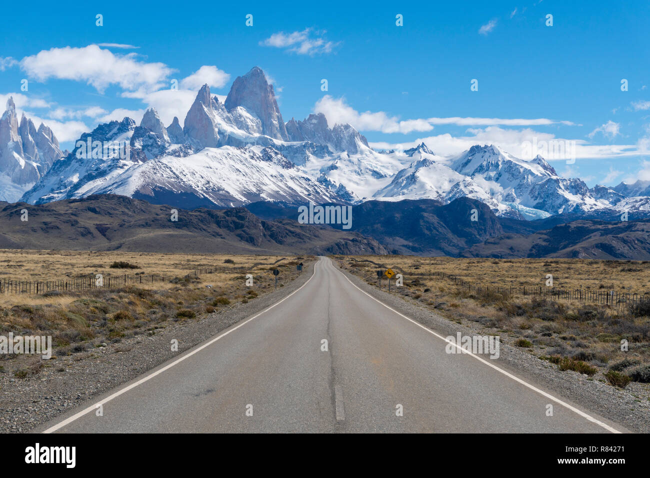 Road to Monte Fitz Roy in Argentina Stock Photo