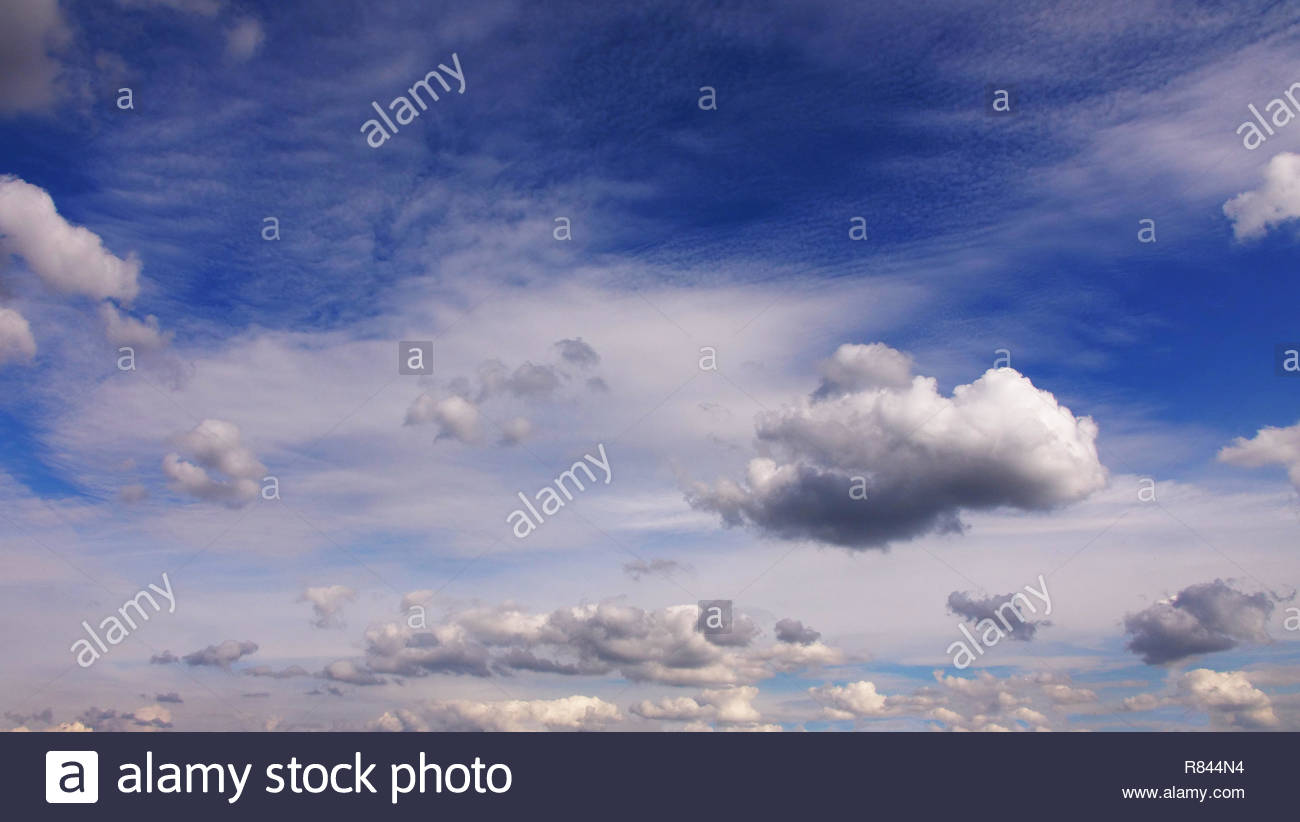 cloud background blue sky sunny day - Stock Image