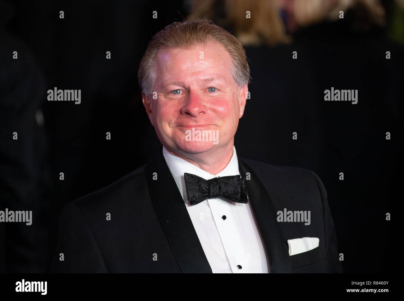 David Magee who wrote the screenplay for the Disney musical 'Mary Poppins Returns' at the film's  Premiere at the Royal Albert Hall in London - Stock Image