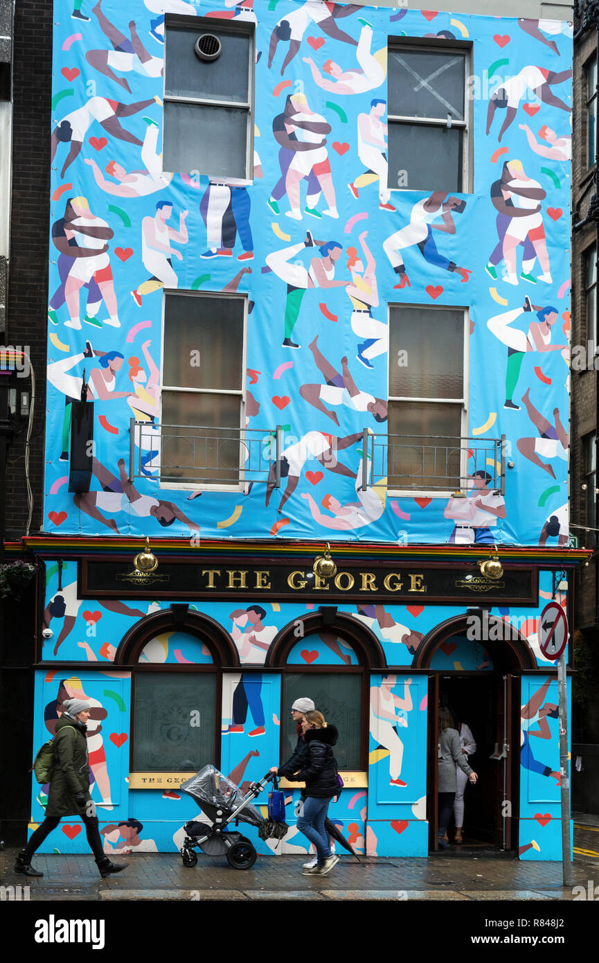 Ireland,Dublin, The George, exterior of a typical pub - Stock Image