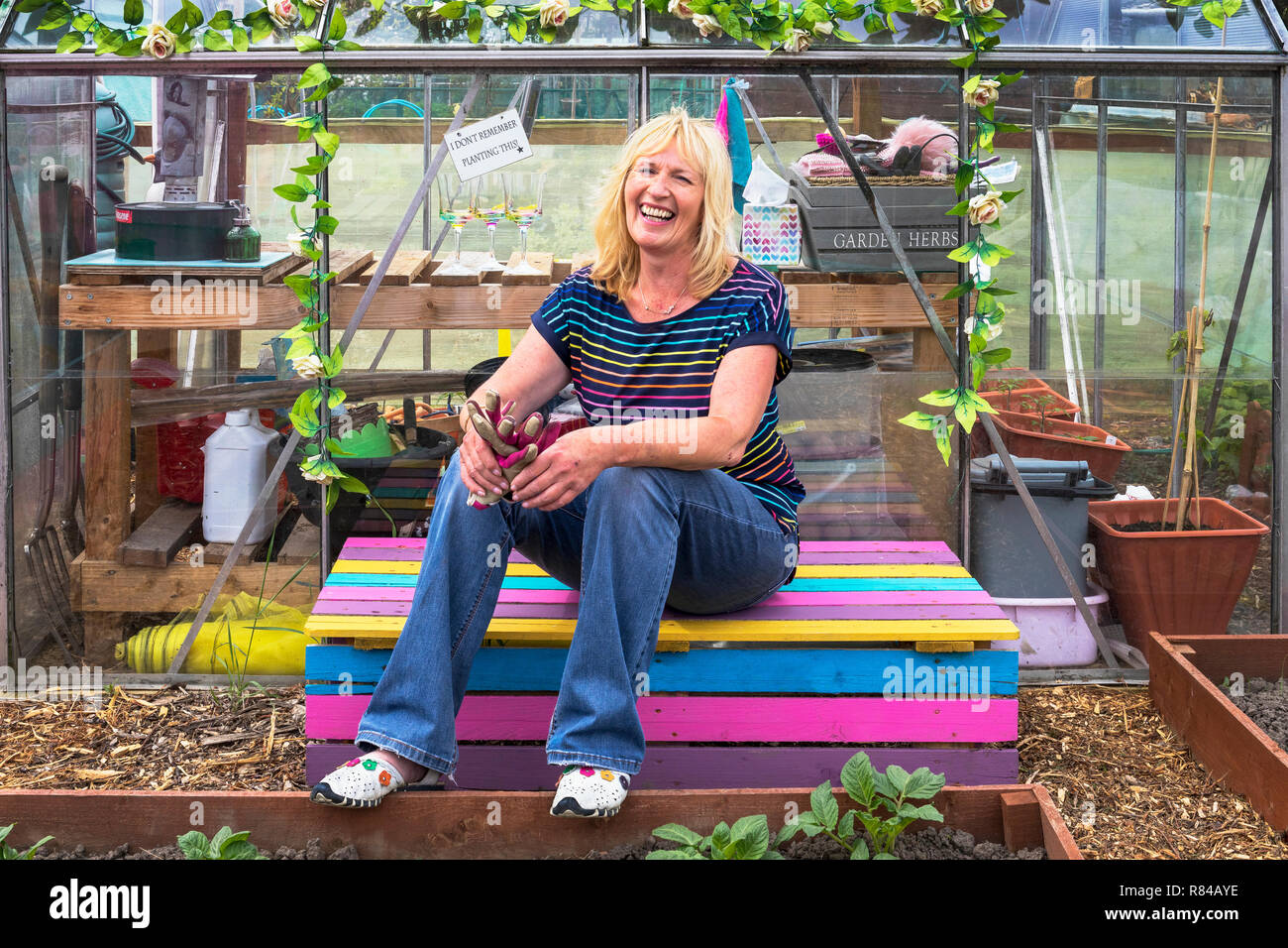 Image of PEGGY ANNE CAMPBELL,  Plot 78, Eglinton Growers, Kilwinning - Stock Image