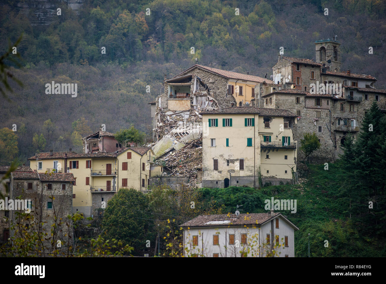 Earthquake in Amatrice - Stock Image