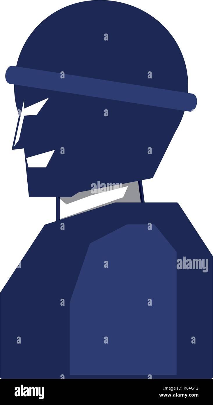 thief man avatar character vector illustration design - Stock Vector