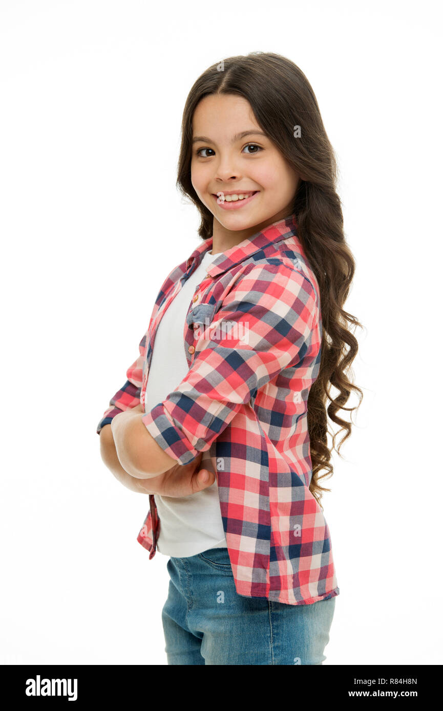 Feel So Confident With New Hairstyle Kid Girl Long Curly Hair