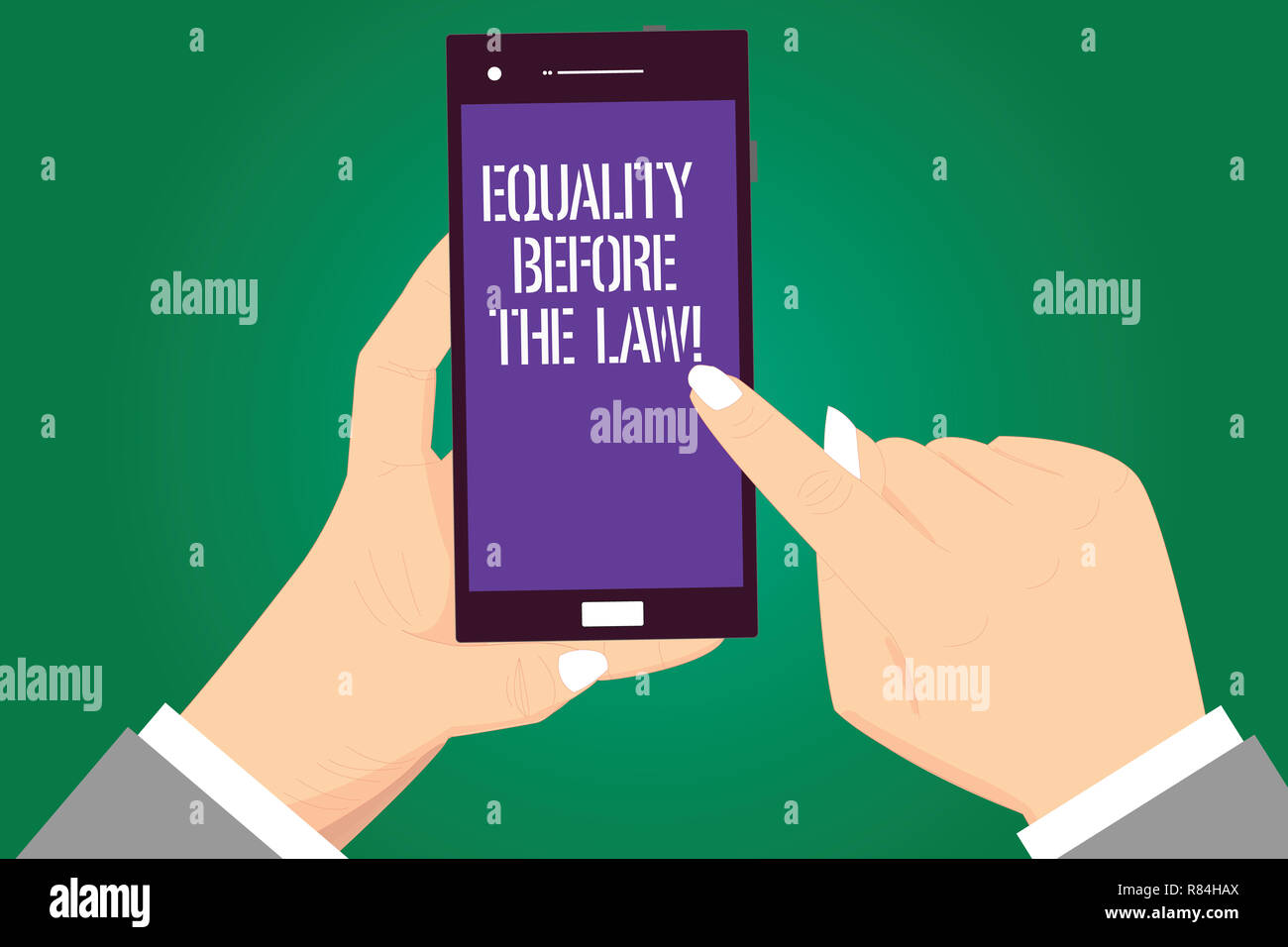 handwriting text equality before the law concept meaning justice