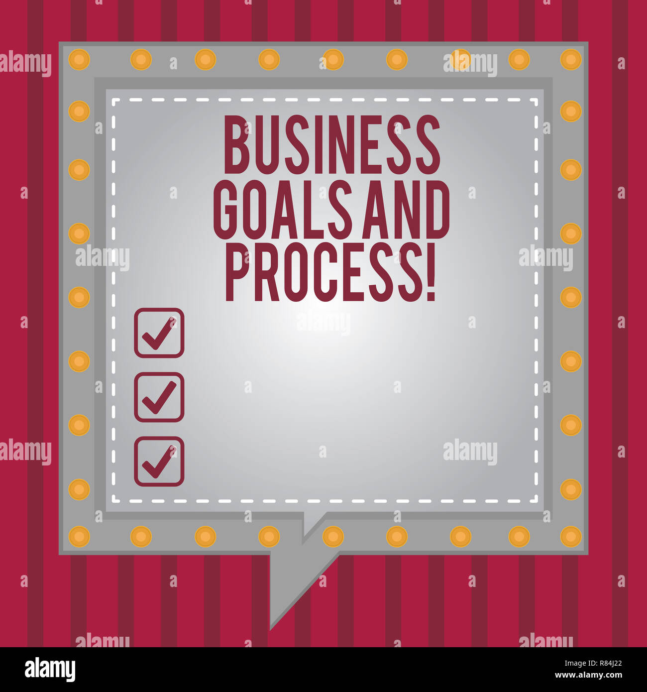 Word writing text Business Goals And Process  Business