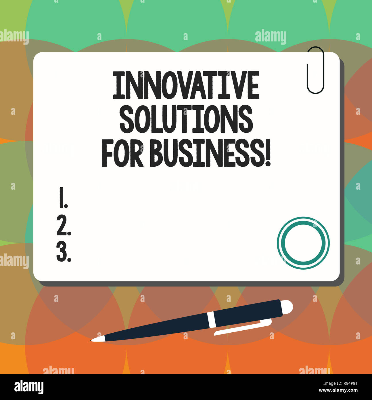 Conceptual hand writing showing Innovative Solutions For Business