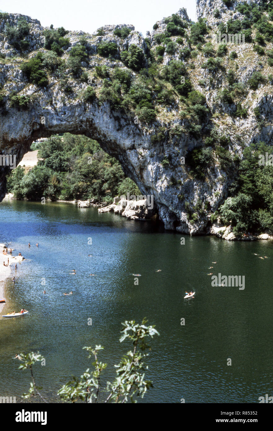 The Pont d Arc on the River Ardeche. Department Ardeche (07). - Stock Image