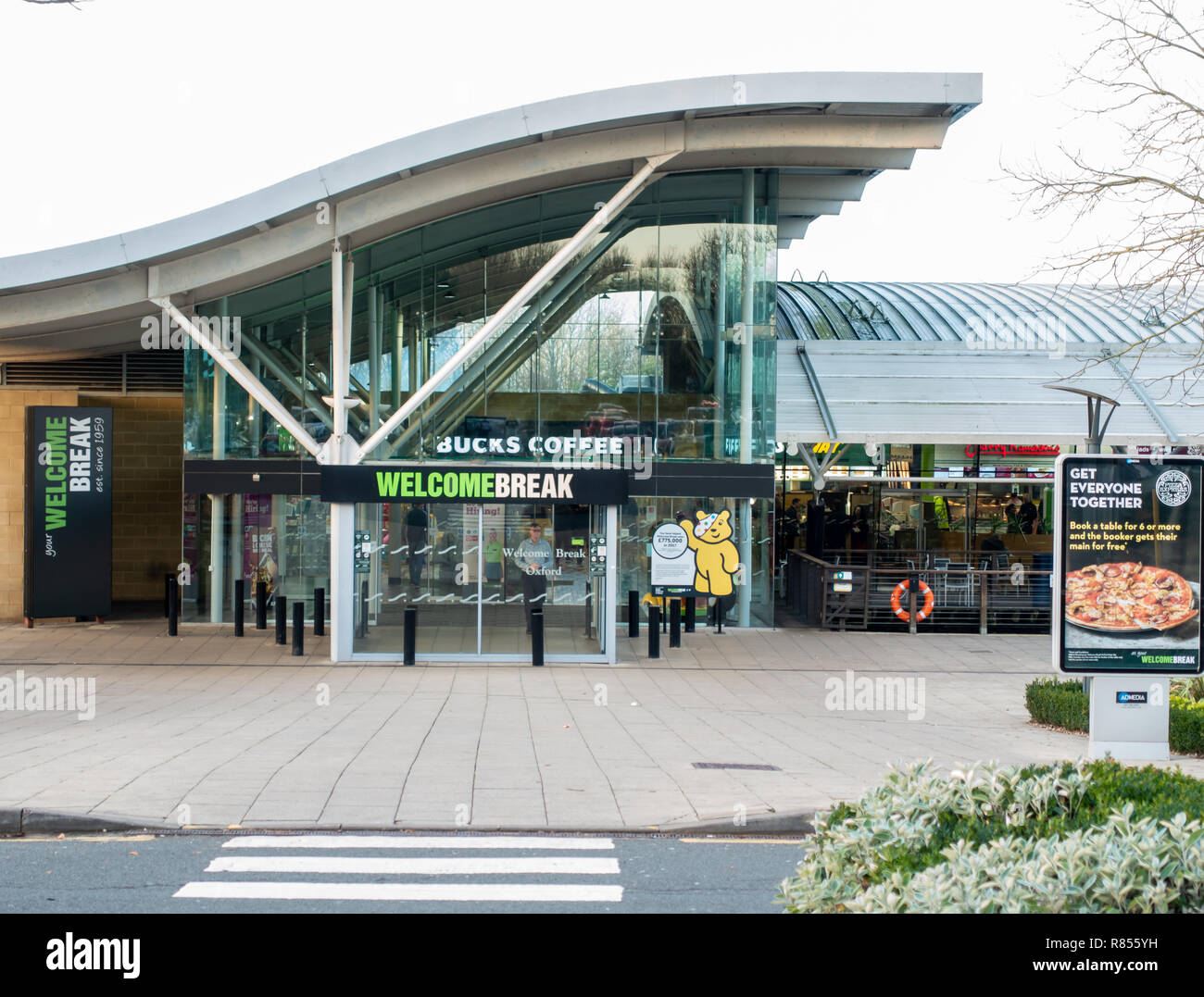 Motorway Service Station Food Stock Photos Motorway