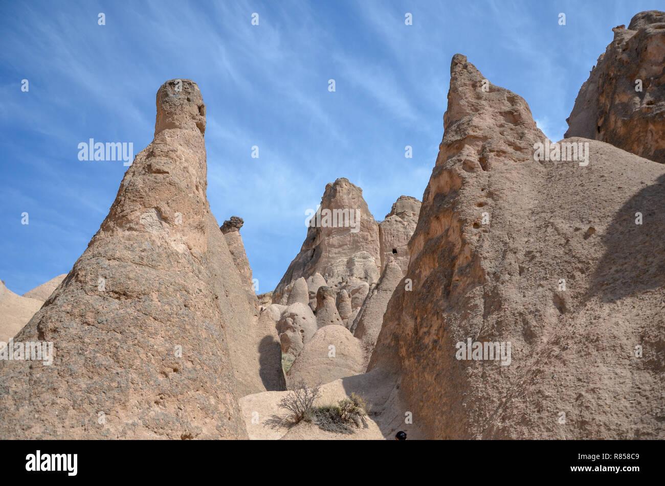 Cappadocia fairy chimneys, Nevsehir  in Turkey - Stock Image