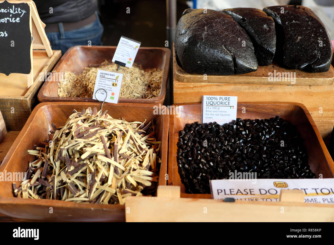 Borough Market Christmas food in London England UK - Stock Image