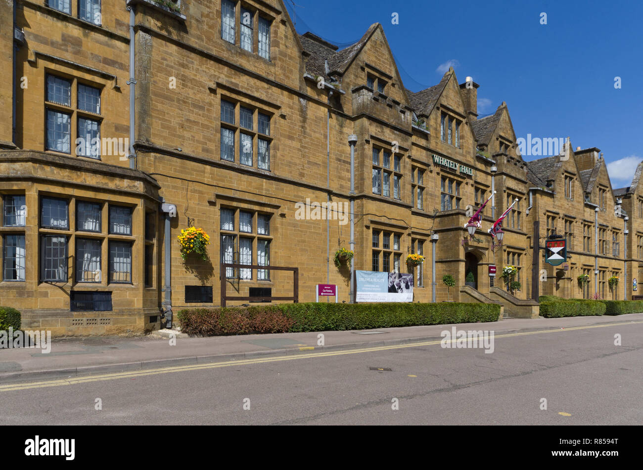 Historic 17th century Whately Hall, Horse Fair, Banbury UK; now a hotel, part of the Mercure chain - Stock Image