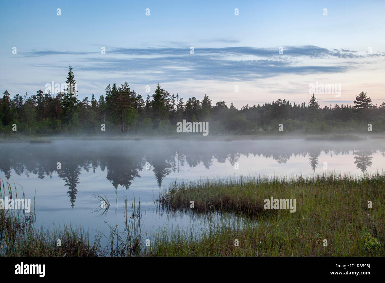 Early sunrise in the Dalarna County, Sweden - Stock Image