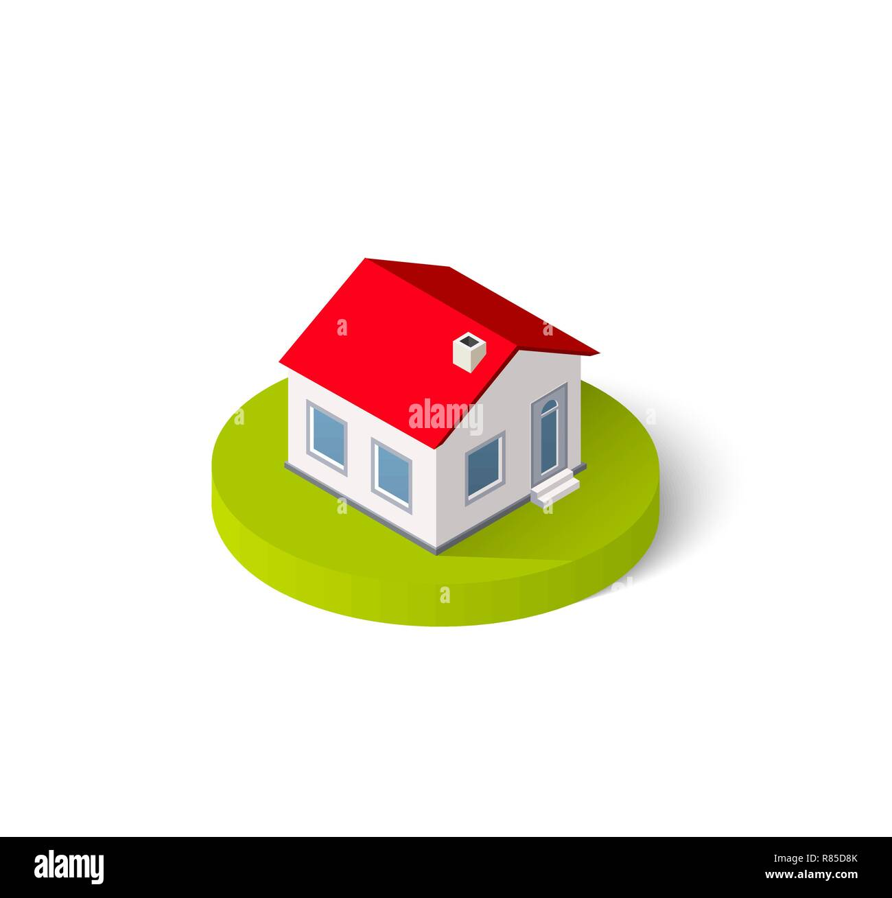 Isometric 3D icon house home  Residence building the city
