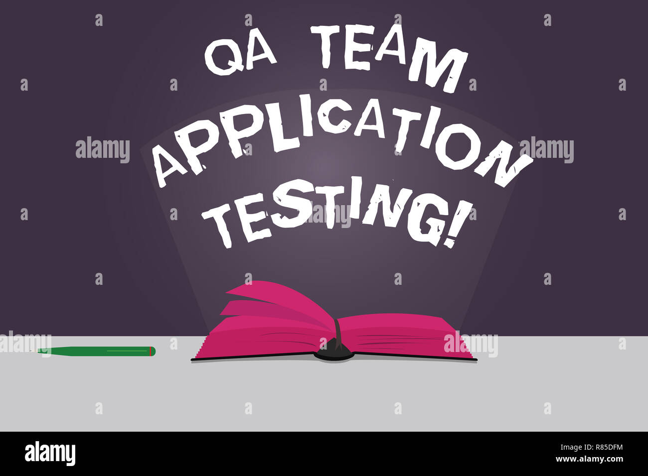 Word writing text Qa Team Application Testing  Business concept for