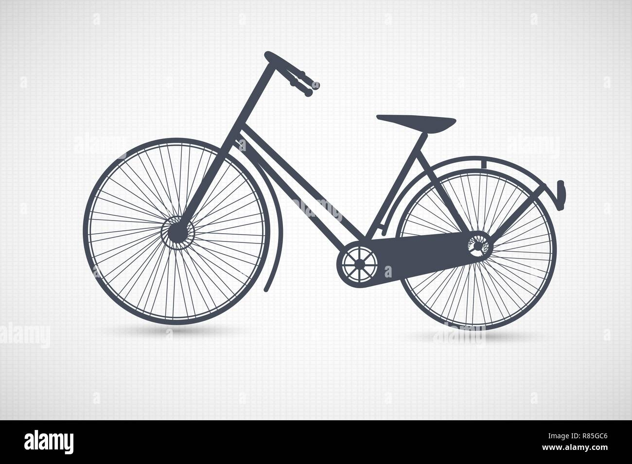 Vintage retro bicycle silhouette Stock Vector Art