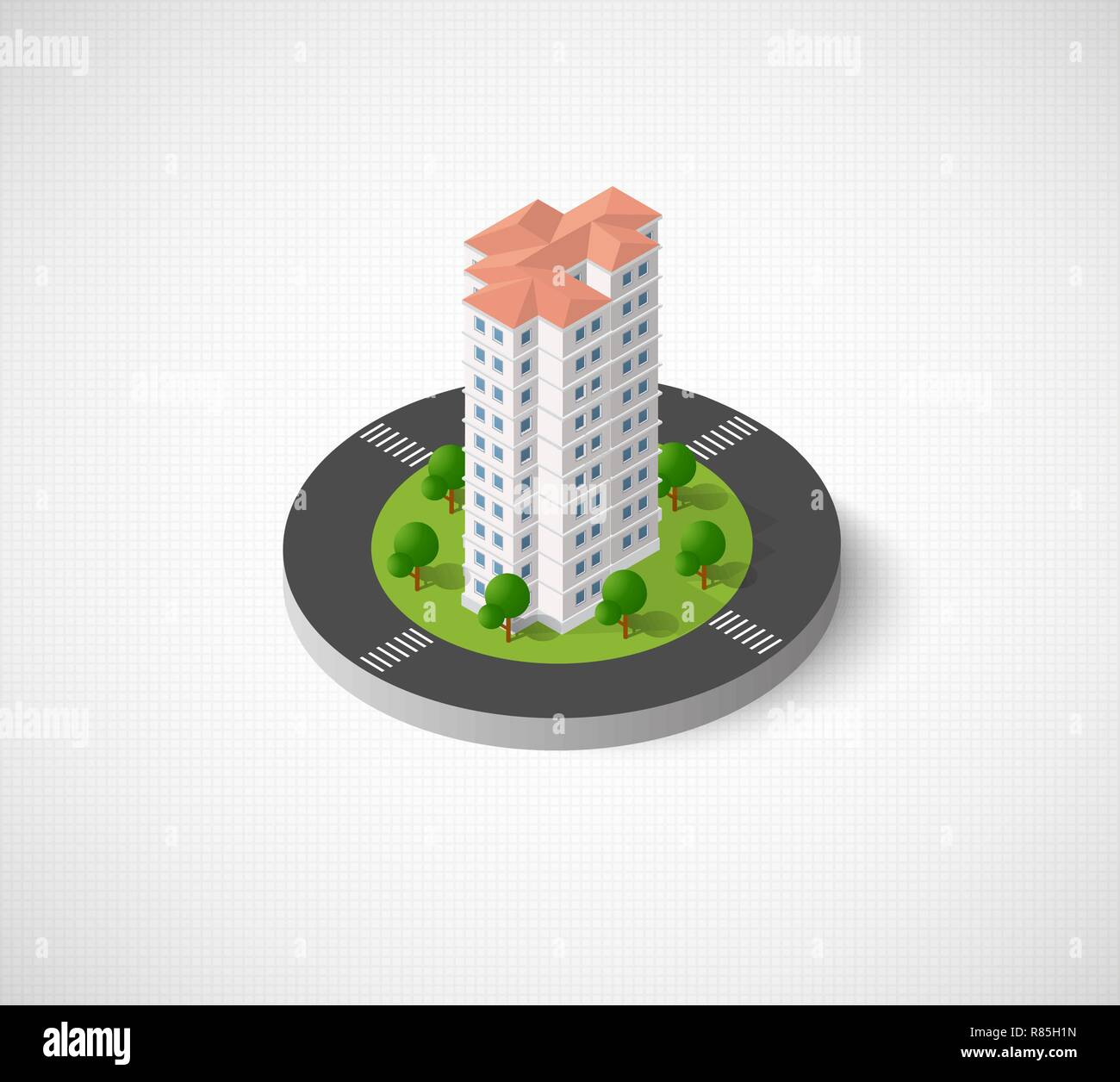 House Architecture Model Trees Icon Stock Photos & House