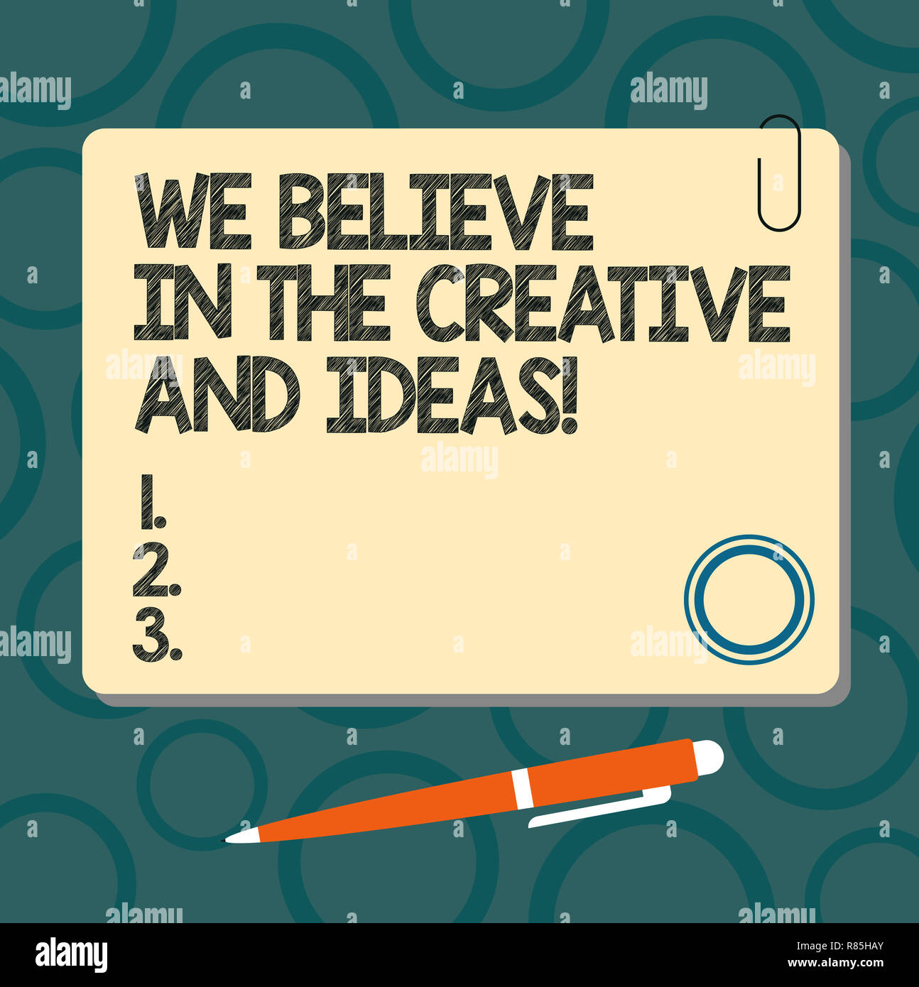Text Sign Showing We Believe In The Creative And Ideas Conceptual Photo Have Faith In Creativity Innovation Blank Square Color Board With Magnet Clic Stock Photo Alamy