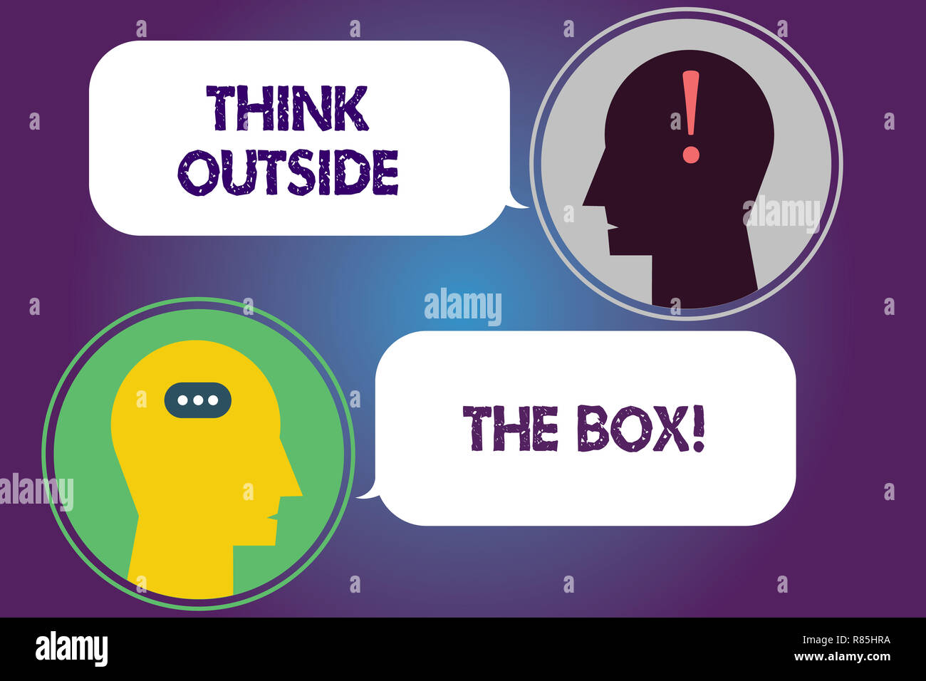 Handwriting Text Think Outside The Box Concept Meaning Be Unique