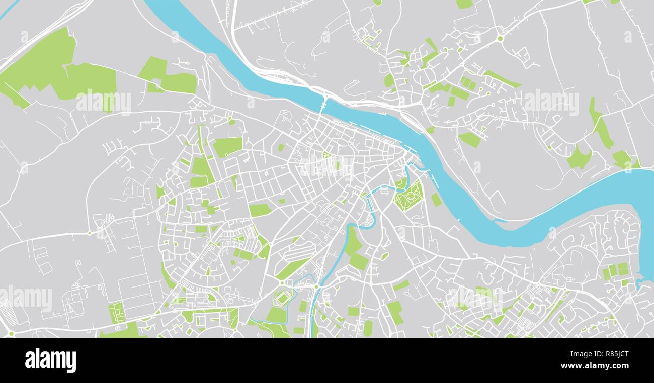 Urban Vector City Map Of Waterford Ireland Stock Vector Art