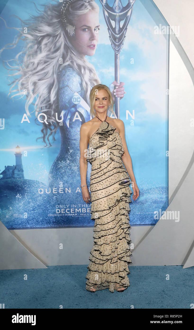 "Hollywood, California, USA. 12th Dec, 2018. Nicole Kidman, at Premiere Of Warner Bros. Pictures' ""Aquaman"" at The TCL Chinese Theater in Hollywood, California on December 12, 2018. Credit: Faye Sadou/Media Punch/Alamy Live News Stock Photo"