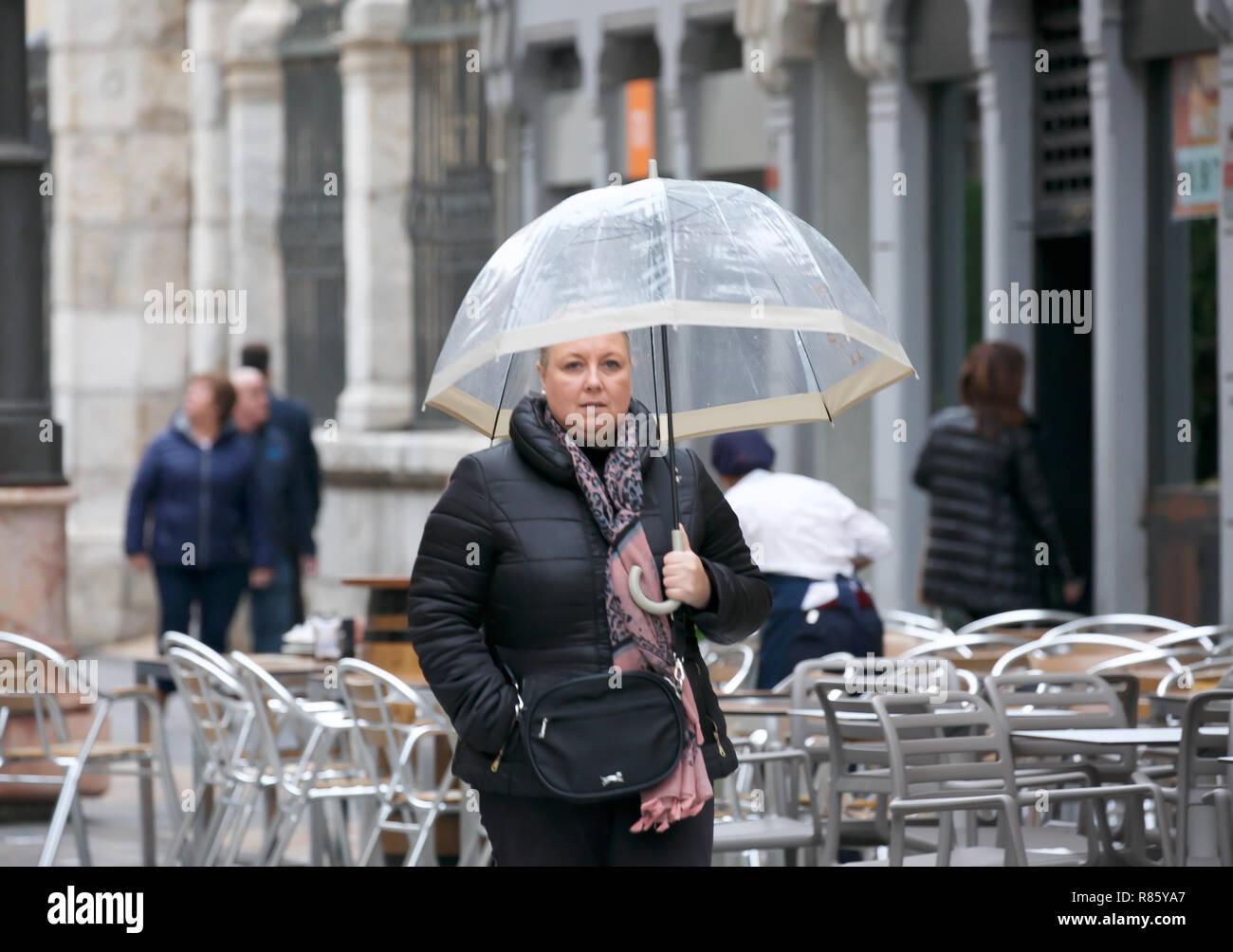 Cartagena,Spain,13th December 2018,Heavy rain in Cartagena, Spain.Credit: Keith Larby/Alamy Live News - Stock Image