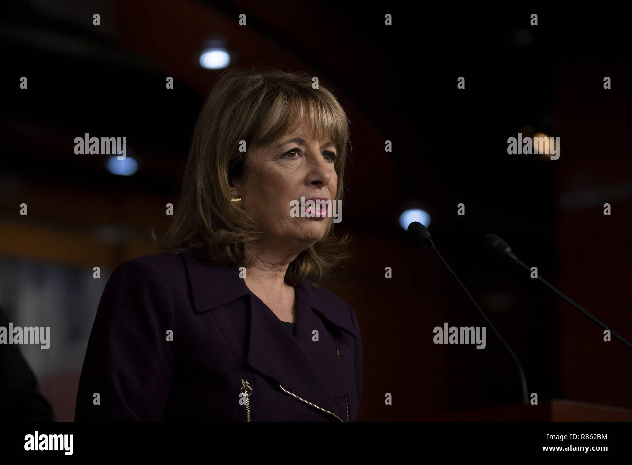 Washington, District of Columbia, USA. 13th Dec, 2018. Rep. JACKIE SPEIER (D-Calif.) at a press conference on the Congressional Accountability Act of 1995 Reform Act Credit: Douglas Christian/ZUMA Wire/Alamy Live News - Stock Image