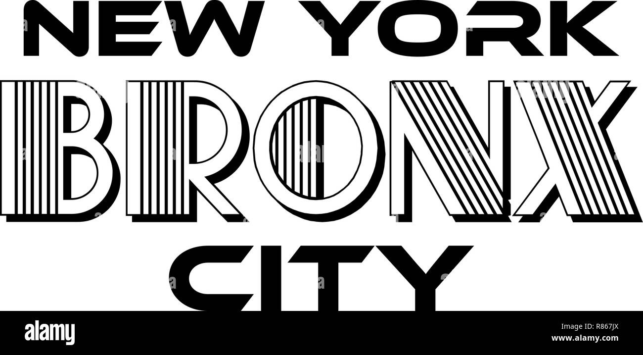 1a6347f67 Bronx New York City Urban Typography for Silk Screen Print Apparel Modern  Design.