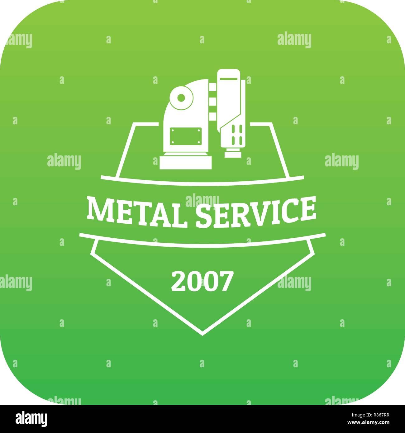 Mechanic service icon green vector - Stock Vector