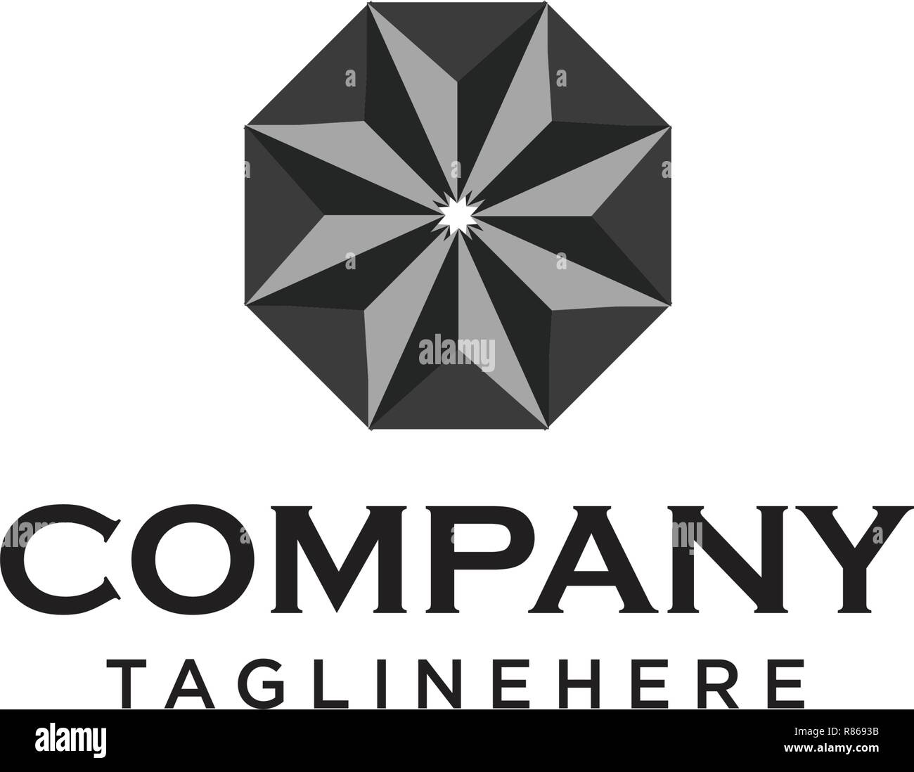 diamond logo design template - Stock Image