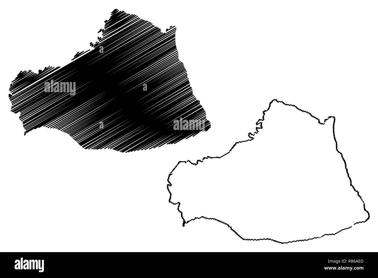 Sanliurfa (Provinces of the Republic of Turkey) map vector ...