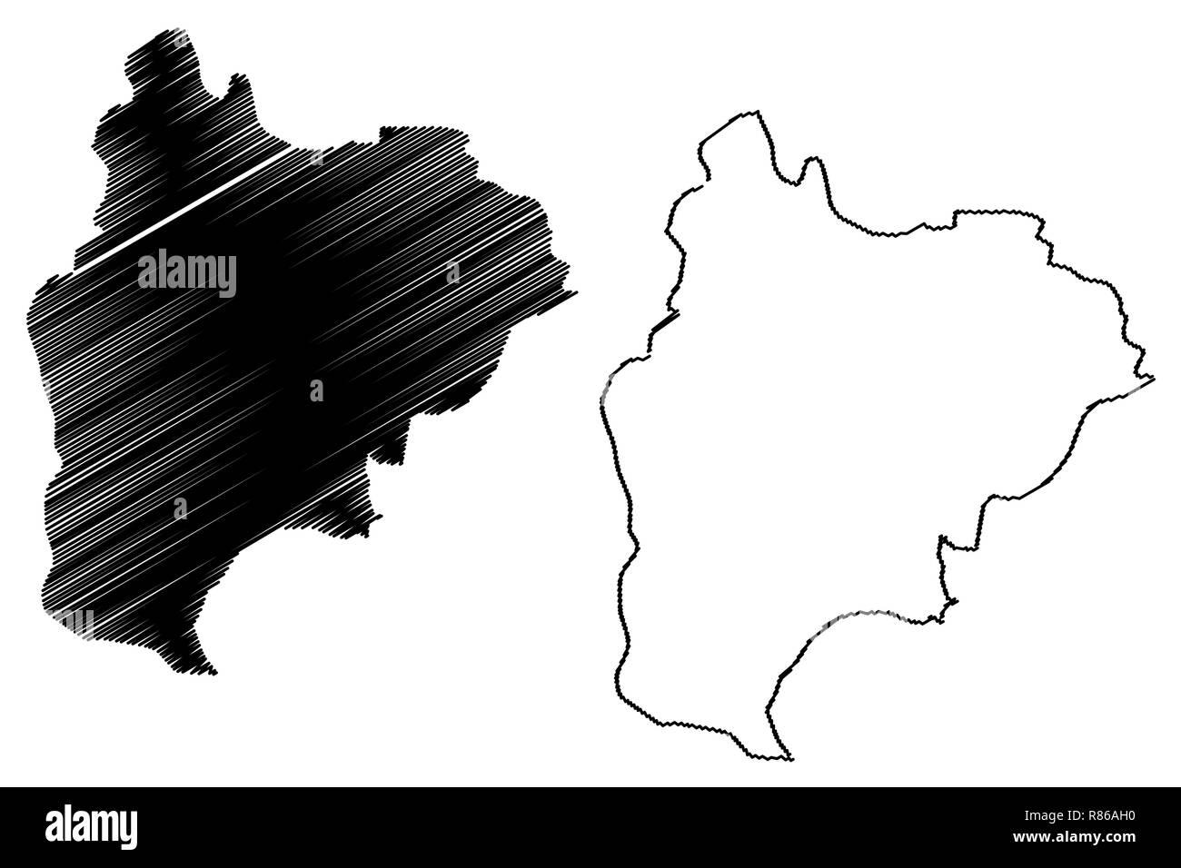 Bilecik (Provinces of the Republic of Turkey) map vector ...