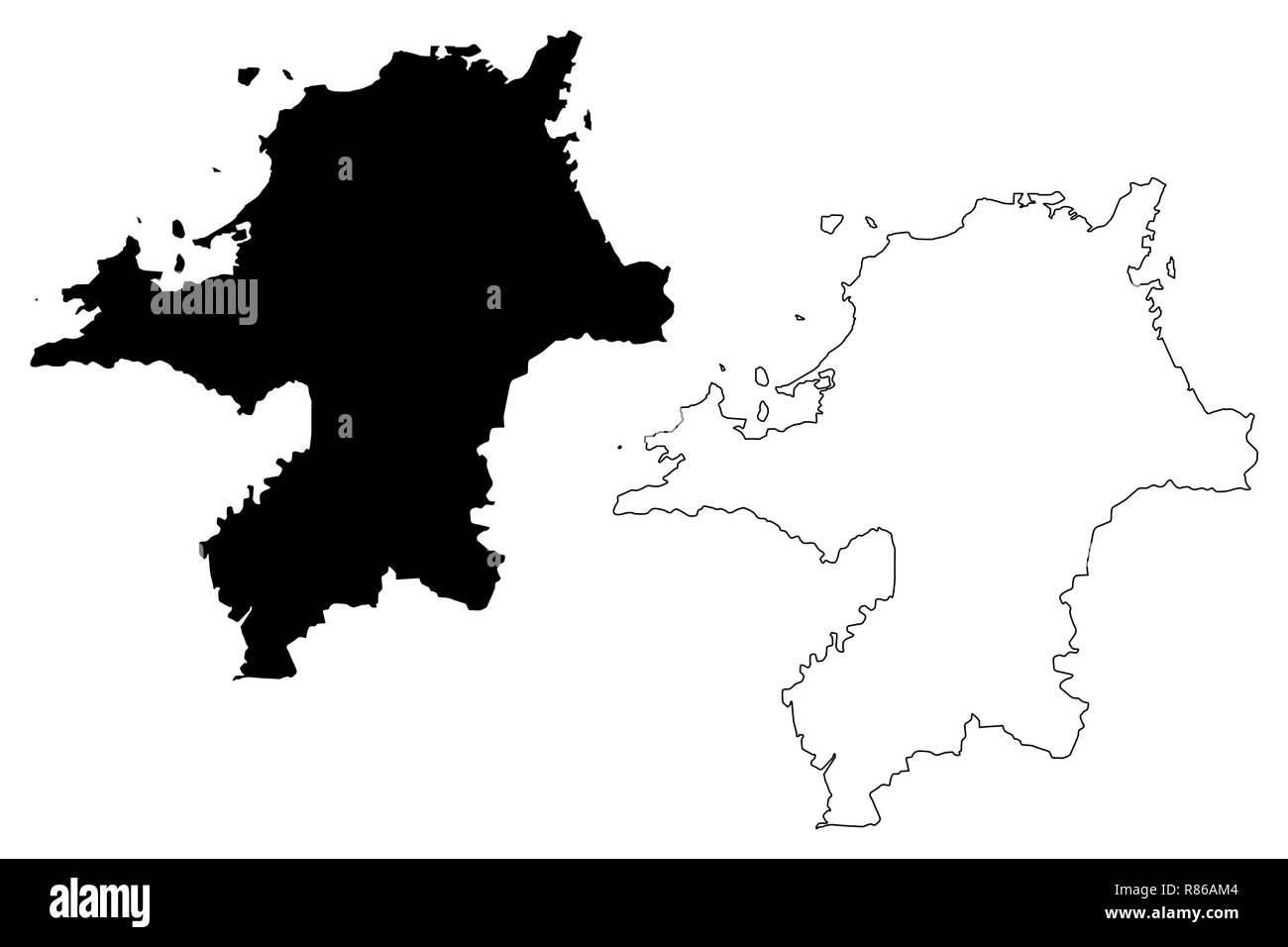 Picture of: Fukuoka Prefecture Administrative Divisions Of Japan Prefectures Of Japan Map Vector Illustration Scribble Sketch Fukuoka Map Stock Vector Image Art Alamy