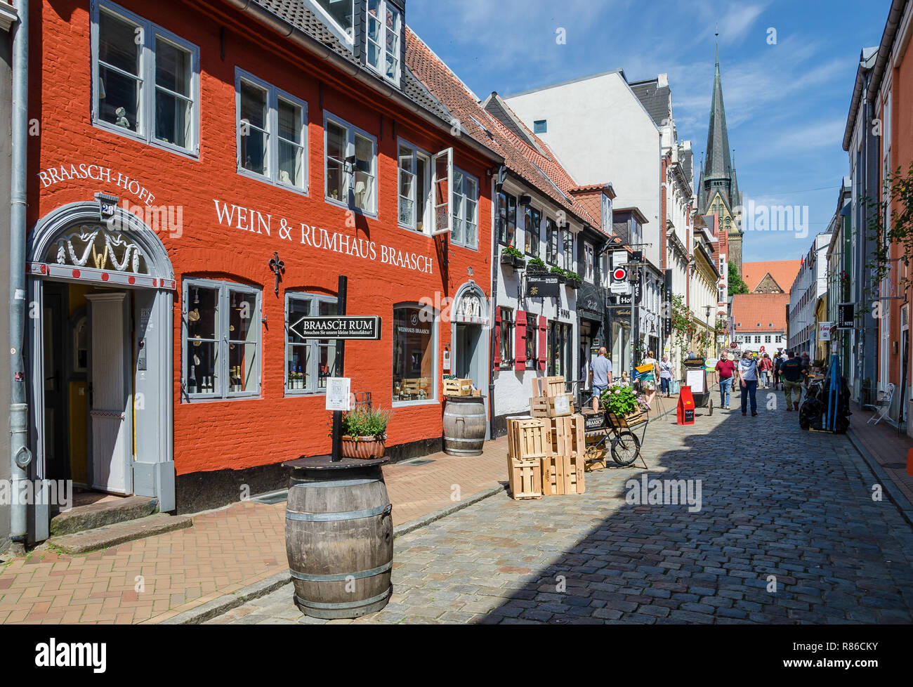 It is not just a centuries-old and flourishing rum and spirits industry which characterises the face of the city of Flensburg; - Stock Image