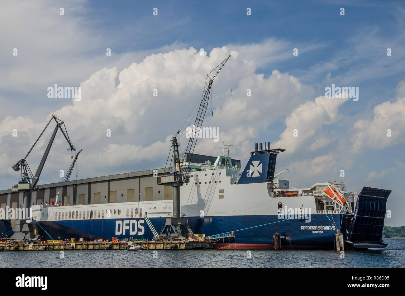 Since its foundation in 1872 Flensburger Schiffbau-Gesellschaft FSG have designed and built more than 750 ships, some of which have a  unique design Stock Photo