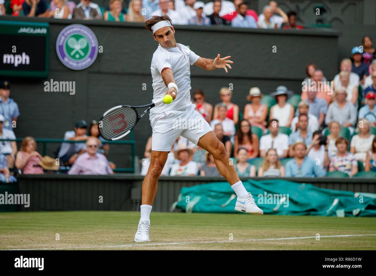 Roger Federer of Switzerland i...