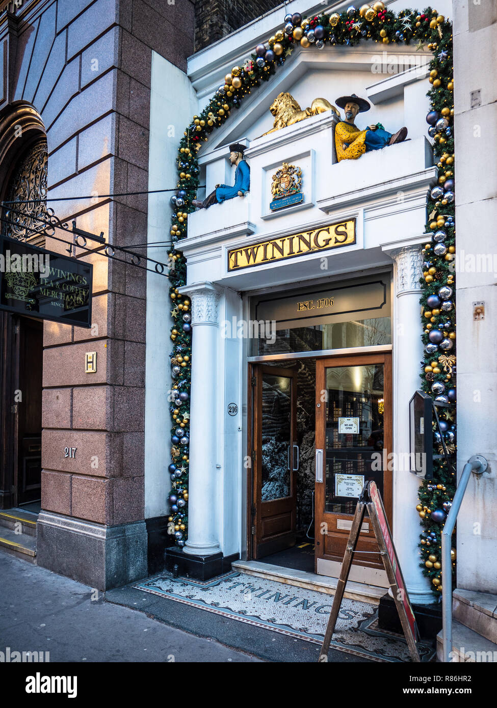 85c5f8df64 Twinings Tea historic tea store at 216 The Strand London - The oldest tea  shop in