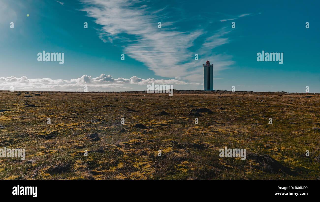 Islandic lighthouse, Island, Europe. - Stock Image