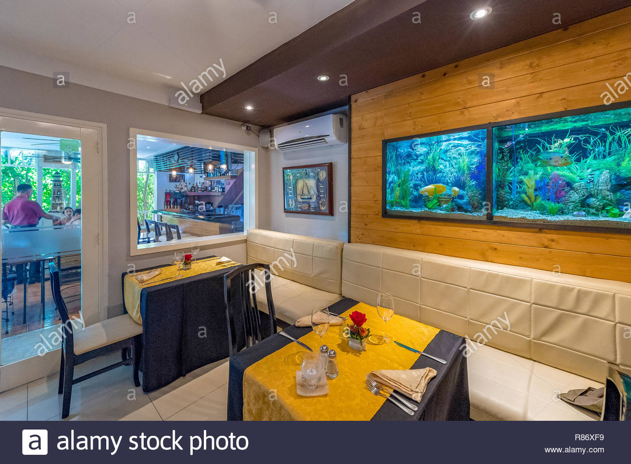 Luxurious Sitting Tables And Decoration Design In Salsa Suarez Restaurant Or Paladar Interior View Of The Famous Private Small Business Stock Photo Alamy