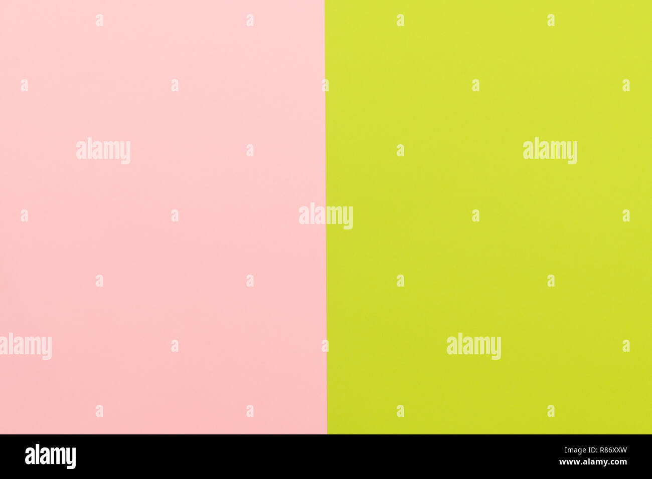 Pastel color paper background. Minimal background. Pink and green abstract pattern - Stock Image