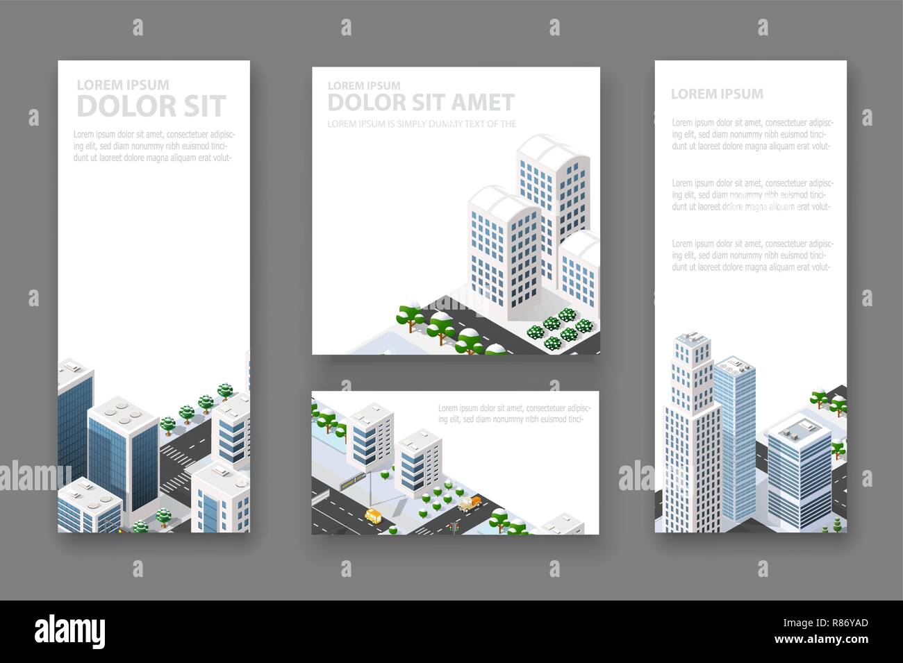 Set business card template  For real estate agencies